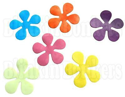 SIX BATH SHOWER ANTI NON SLIP FLOWERS STICK ON STICKER SUCTION PADS GRIP MAT 39C