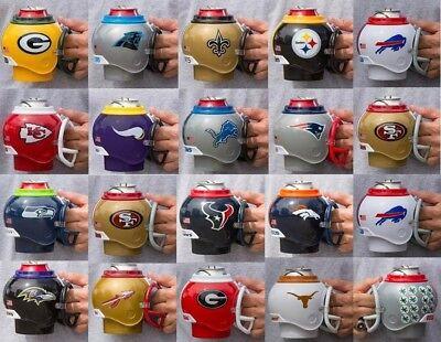 NFL NCAA Fan Mugs Packers Chiefs Steelers Texans Buckeyes Longhorns Georgia NWT