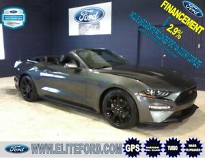 FORD MUSTANG CONVERTIBLE 2018, ÉCOBOOST, CUIR, GPS