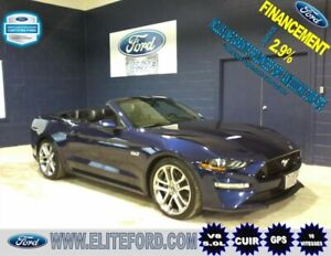FORD MUSTANG GT 2018, CONVERTIBLE, CUIR, GPS
