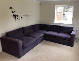 Stella modular 2c2 sofa - mulberry purple color. £250