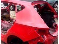 2013-2016 MK3 5F SEAT LEON FR 5 DOOR HATCHBACK NSR PASSENGERS SIDE REAR QUARTER PANEL CUT OUT IN RED