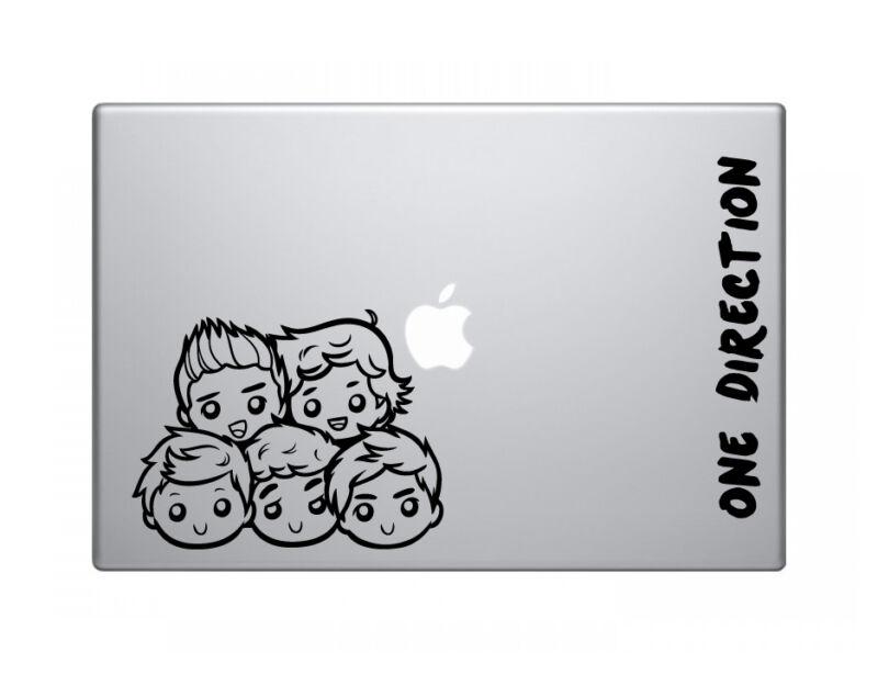 One direction cute vinyl decal sticker skin apple macbook pro air mac 13 inch
