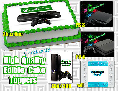 WII XBOX PlayStation cake toppers Edible image FROSTING SHEET birthday paper 3 - Icon Wii