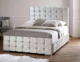 FLORIDA CRUSHED VELVET FRAME BED