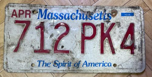 MASSACHUSETTS USA NUMMERNSCHILD Kennzeichen  US LICENSE PLATE   712PK4