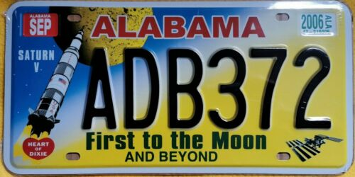 Kennzeichen License Plate United States US USA Alabama First to the Moon Replica