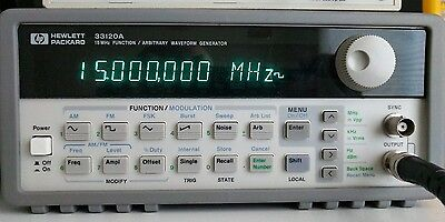HP/Agilent 33120A Opt 001 Function/Arbitrary Waveform Generator 15Mhz TCXO
