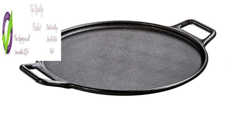 Lod P14P3 Pro-Logic Cast Iron Pizza Pan, 14-Inch, Black