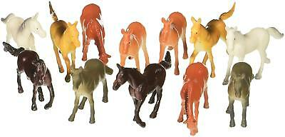 Horse Toys For Girls Boys Fun Collection Plastic Horses Toys 12 Piece Play - Plastic Toy Horses