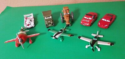 Disney Pixar Cars And Planes Lot Diecast And Plastic. 8 total.