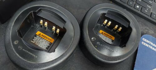Lot of 2 Motorola Single Cup Rapid Charger HTN9000B HT750 HT1250 MTX EVX