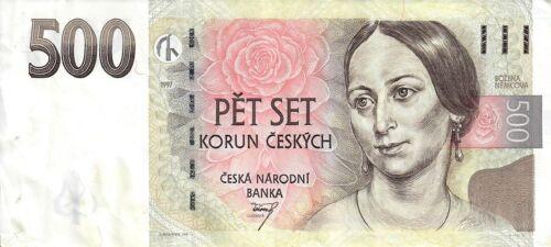 Czech Republic 500 Korun 1997 Banknote Great Condition Lightly Circulated