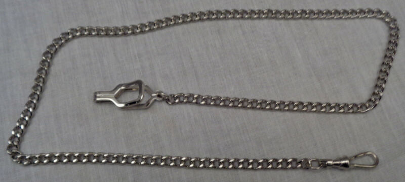 WHISTLE LINK CHAIN Silver-tone Epaulet Clasp-uniform/police/sheriff/constable