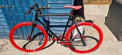 Black No logo bike fixed gear bike fixie single gear