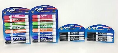 Expo Low Odor Chisel Tip Fine Tip Dry Erase Markers - Lot Of 4 - 24 Markers