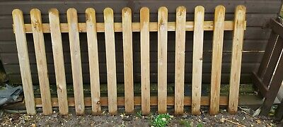 4 x Round Top Picket Wicket Fence Panels 183cm x 90cm Pressure Treated