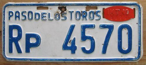 Uruguay 2010 PASO DELOS TOROS MOTORCYCLE License Plate NICE QUALITY # Rp 4570