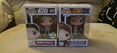 Star Wars-OBI WAN Kenobi Funko POP Vinyl Figure #10 and Padme Amidala #237