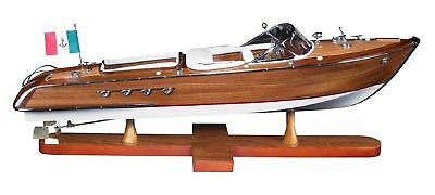 """Riva Aquarama Exclusive Edition Speed Boat 25.2"""" Wooden Model Ship Assembled"""