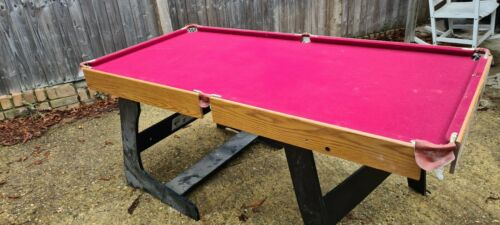 Pool table 6ft red