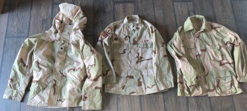 Desert Camo Jacket Shirt Lot of 3 MED REG