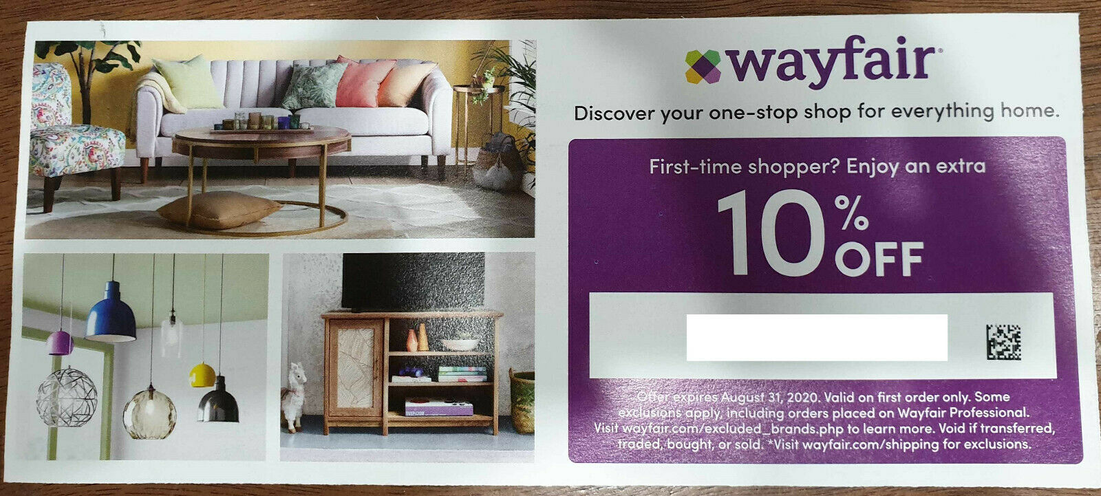 Wayfair.com 10 Off Email Delivery  - $4.99