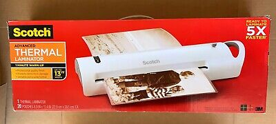 Scotch Advanced Thermal Laminator 20 Pouches 5x Faster