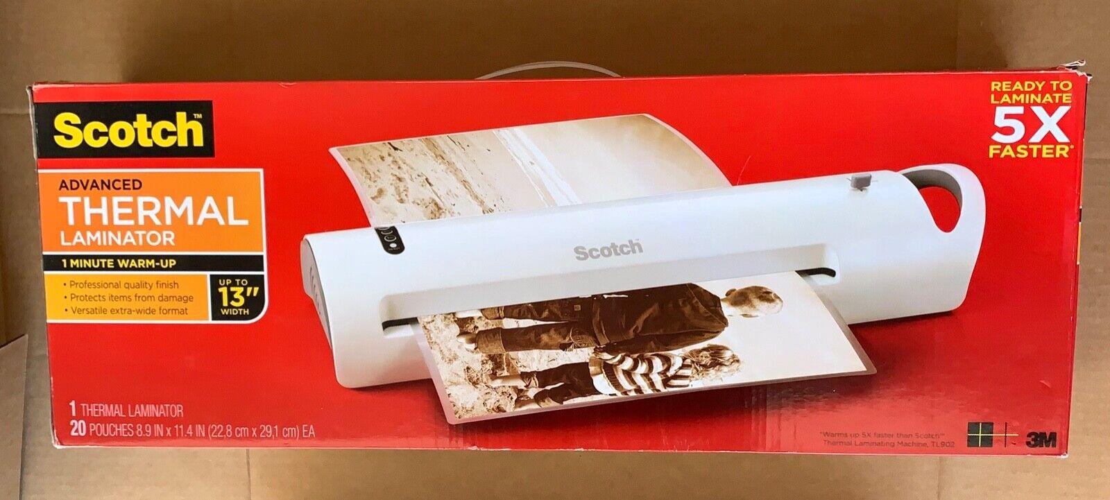 Scotch Advanced Thermal Laminator, Extra Wide 13-Inch Input,