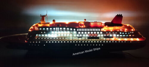 "NIPPON MARU OCEAN LINER WITH LIGHTS 32"" - Handcrafted Wooden Model NEW"