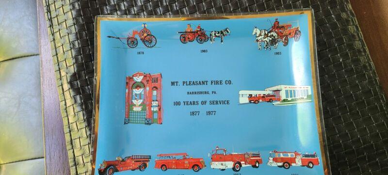 Harrisburg City Fire Department Squad 8 Mt. Pleasant Commemorative Plate