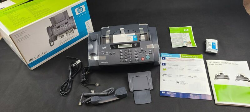 HP 1040 Inkjet Fax Machine With Built-In Telephone Scan & Print Used