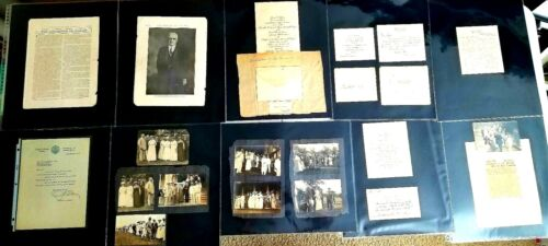 ANTIQUE LOT 1917 Albumin PINKHAM GOVERNOR HAWAII Letters Photographs Signatures