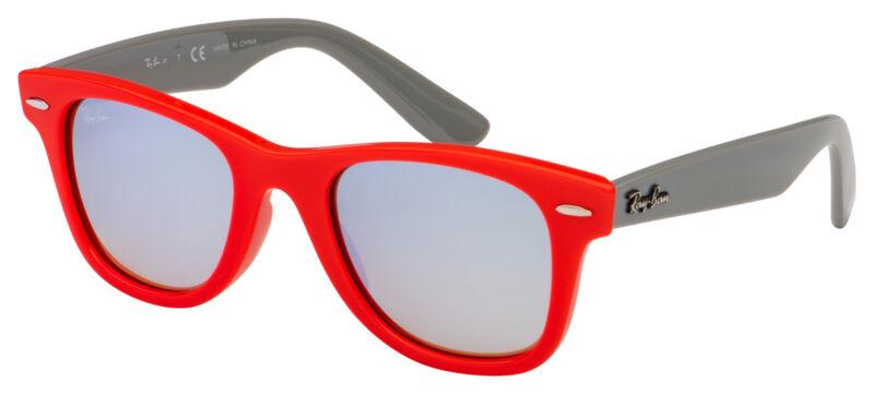 Ray-Ban Junior Sunglasses RJ 9066S 7040B8 47 Red / Grey | Silver Mirror / Brown