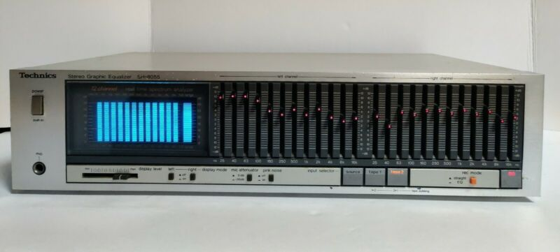 Technics SH-8055 12 Band Stereo Graphic Equalizer Silver *Beautiful Condition*