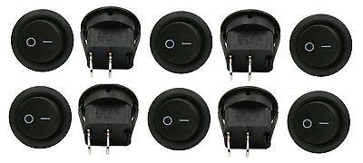 10 Pack 6a 250v 10a 125v Spst Onoff 2 Position Mini Round Rocker Switch 12v