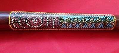 Aboriginal Didgeridoo Wood Musical Instrument Hand Crafted Australian Dot Art
