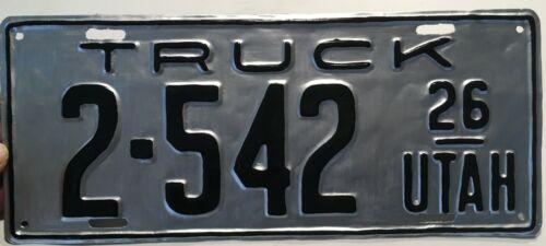 1926 UTAH Truck License Plate