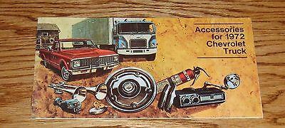 Chevrolet Truck Accessories Brochure - 1972 Chevrolet Truck Accessories Sales Brochure 72 Chevy Pickup