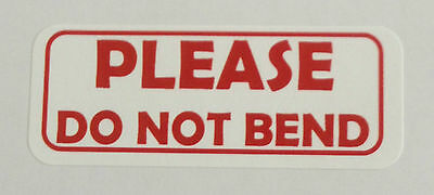 Please Do Not Bend Labels - 1 X 2 58 - 1200 Total - 30 Per Sheet