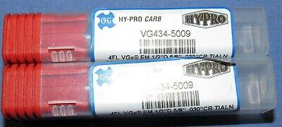 Osg New 12 4 Flute Solid Carbide Bull End Mills 0.030 Cr 2 Pcs Lot
