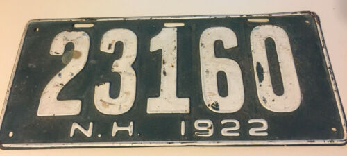 1922 New Hampshire License Plate