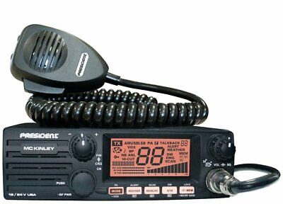 President McKinley USA 40 Channel CB Radio AM/SSB/PA 12/24V