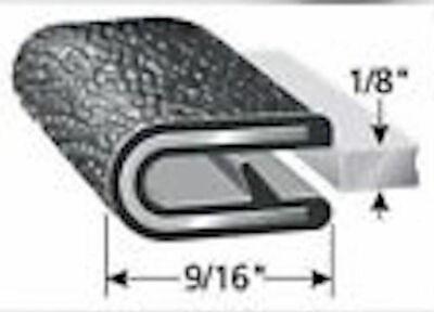 "10 Feet 1/8"" Black Edge Flexible PVC Trim Lok Camper RV Seal Lock Boat Quality"