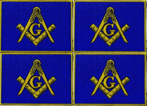 FREEMASON 4 MASONIC FLAG EMBROIDERED PATCHES iron-on SQUARE & COMPASS