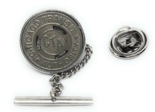 CHICAGO SUBWAY TOKEN TIE TACK / LAPEL PIN