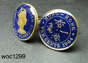 Hong-kong-coin-cufflinks-10-cent-King-George-VI-1948-1951-or-Queen-Elizabeth-II