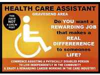 PERSONAL HEALTH CARE ASSISTANT FOR A PHYSICALLY DISABLED MAN IN GRAVESEND - £9.00 TO £18.00 PER HOUR