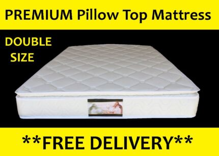 FREE DELIVERY *PREMIUM* Pillow Top Mattress - DOUBLE SIZE New Farm Brisbane North East Preview