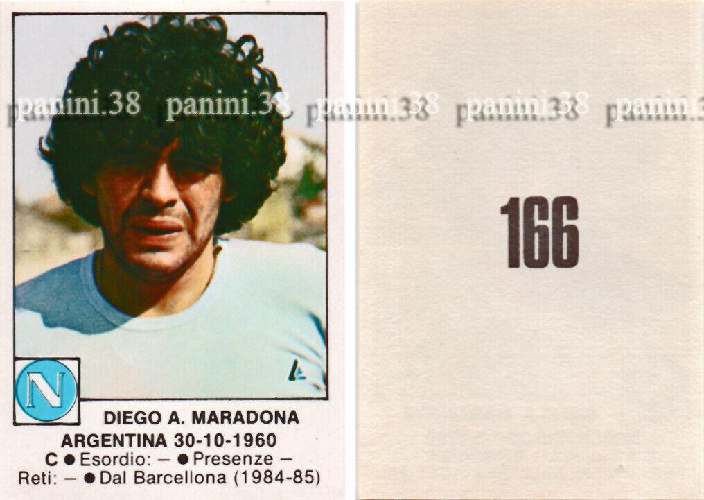 "Rare !! vignette n°166 diego maradona ""calciatori 1984-1985"" like panini edis"